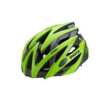 Fejvédő Bikefun edge L zöld/karbon 58-61 cm
