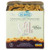 Lánc KMC X9 SL gold 1/2x1/128 116L