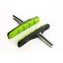Fékpofa Bikefun MTB 72 mm csapos fekete/zöld