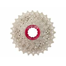 Sunrace CSRX0 10 sebességes fogaskeréksor [ezüst-piros, 11-25]