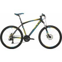 """Rock Machine Manhattan 60-26 XC kerékpár [17"""", fekete-sárga-kék]"""