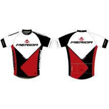 Mez MERIDA 2014 rövid 41 S piros/ fehér/fekete végig zipzár - Team replica