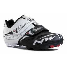 Cipő NORTHWAVE MTB SPIKE EVO 45,5 fehér-fekete