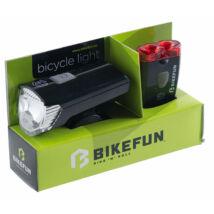 Lámpa BIKEFUN RAY szett 1+2 LED USB