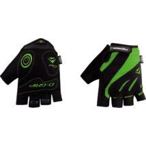 Kesztyű MERIDA COMFORT GEL rövid zöld/fekete