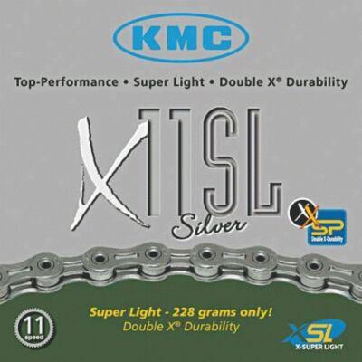 Lánc KMC X11 SL silver 1/2x1/128 114L