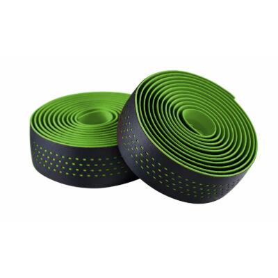 Kormánybandázs MERIDA zöld/fekete végdugóval, Microfiber, Shockproof 210cm