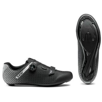 Cipő Northwave ROAD CORE PLUS 2 WIDE 45 fekete/ezüst