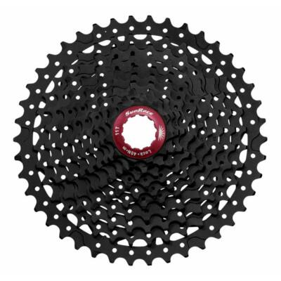 Sunrace CSMX3 10AY 10 sebességes fogaskeréksor [fekete-piros, 11-42]