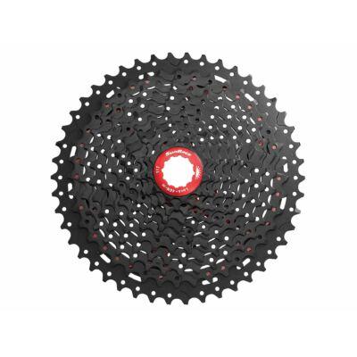 Sunrace CSMX8 11AZ 11 sebességes fogaskeréksor [fekete-piros, 11-46]