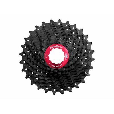 Sunrace CSRX1 11 sebességes fogaskeréksor [fekete-piros, 11-28]