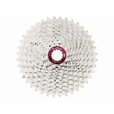 Sunrace CSMX3 10AX 10 sebességes fogaskeréksor [ezüst-piros, 11-40]