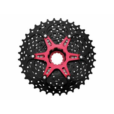 Sunrace CSMX0 10 sebességes fogaskeréksor [fekete-piros, 11-36]