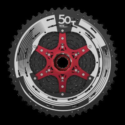 Sunrace CSMZ90 WA5 12 sebességes fogaskeréksor [fekete-piros, 11-50]