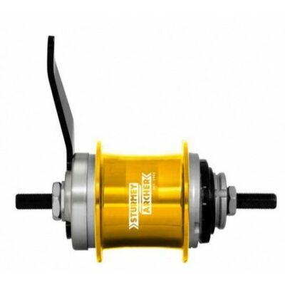 Sturmey Archer S1C kontrafékes hátsó agy [arany, 36 L]