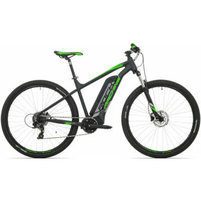 """Rock Machine '19 Storm e60-29 elektromos MTB kerékpár [21"""", matt fekete/ezüst/zöld]"""