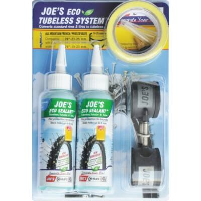 Joe's No-Flats Tubeless Ready Kit - Eco Sealant [32 mm, 21 mm]