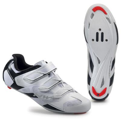 Cipő NORTHWAVE ROAD SONIC 2 3S 43,5 fehér-fekete